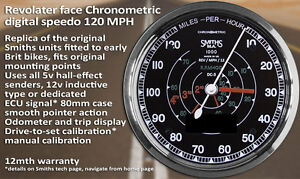 Details about UK made Smiths branded digital chronometric speedometer  80,120,140mph and kph