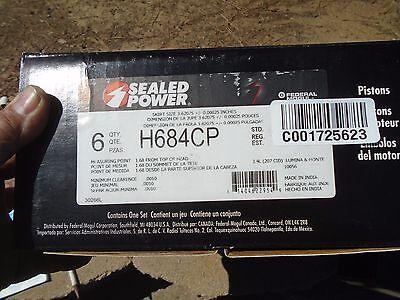 "Engine Piston set sealed power h684cp lumina montecarlo  3.4l  207/"" 6ea   std"