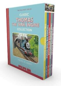 Thomas-Tank-Engine-5-Book-Box-Set-Kids-Young-Children-Classic-Collection-HB-New