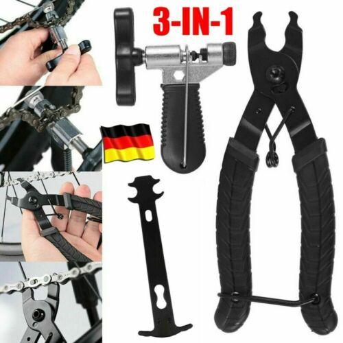 Fahrrad Link Kettenschloss Zange Ketten Werkzeug Prüfer Fahrrad Reparatur Set DE