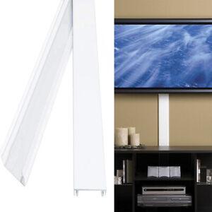 Detalles Acerca De Cubierta De Cable Cable Tv Soporte Pared Led Lcd Corrector Ocultar Cables Organizador Mostrar Título Original