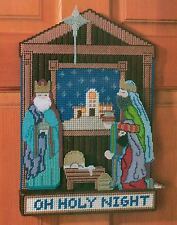 OH HOLY NIGHT DOOR BANNER CHRISTMAS PLASTIC CANVAS PATTERN INSTRUCTIONS
