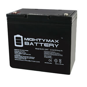 Mighty-Max-12V-55AH-Internal-Thread-Battery-Replacement-for-Power-Sonic-PS-12550