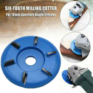 6 Teeth Power Wood Carving Cutter Disc Milling Attachment for Angle Grinder Tool