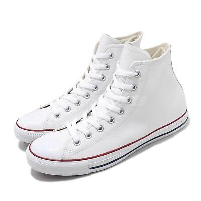 Converse Chuck Taylor All Star HI White Leather Men Women Classic Shoes 132169C | eBay