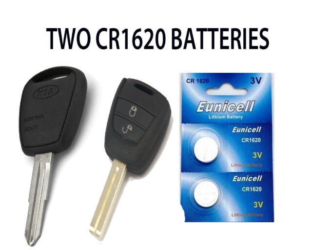 2 New Kia Picanto Ceed Pro Creed Remote Key Fob Batteries Cr1620