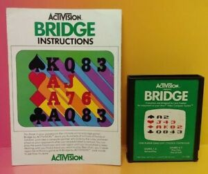 Atari-2600-Bridge-Game-amp-Instruction-Manual-Tested-Works-Rare