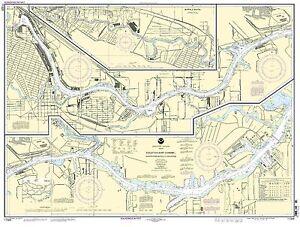 NOAA Chart Houston Ship Channel Carpenters Bayou to Houston 40th Edition 11325