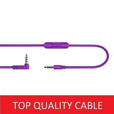 Purple Cable/Lead for Beats By Dre Headphones Solo HD/Studio Audio ControlTalk