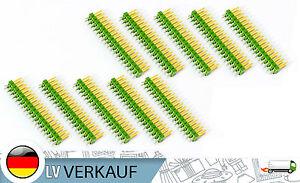 10-Stueck-Pin-Leisten-je-2x18Pin-2-54mm-vergoldet-gruen-fuer-Arduino-Raspberry-Pi