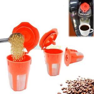 1-2-3-4-Keurig-2-0-Refillable-K-Carafe-Reusable-Coffee-Filter-Replacement-Orange