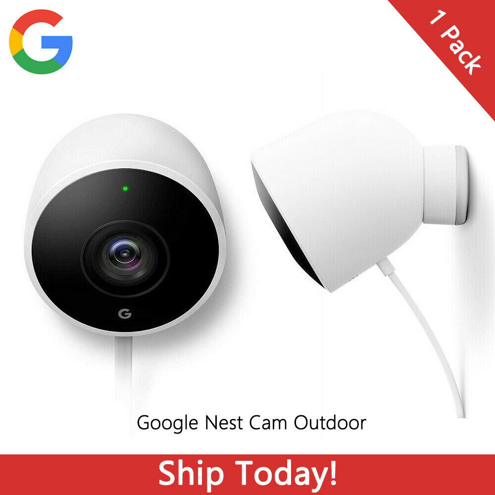 Google Nest Cam Outdoor Security Camera Wi-Fi Wired 1080P HD with Night Vision. Buy it now for 179.99
