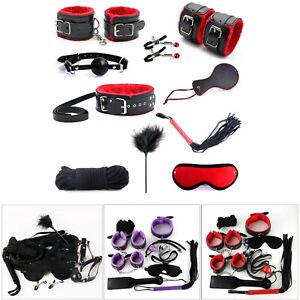10Pcs-Under-Bed-Bondage-Set-Collar-Whip-Cuffs-Rope-Restraint-System-Kit-BDSM-Toy