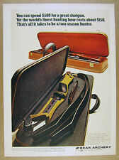 1972 Bear Archery Victor Take Down Hunting Bow photo vintage print Ad