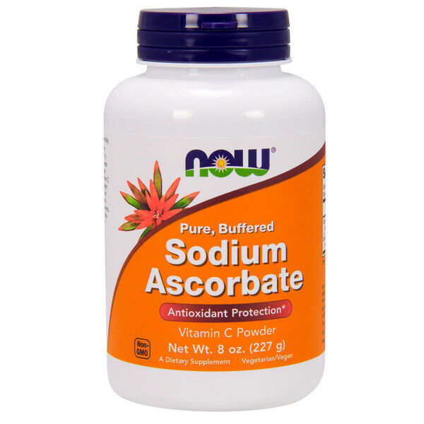 Sodio Ascorbate Polvo,227ml (227g) - Now Foods Energía Antioxidante Vitamina C