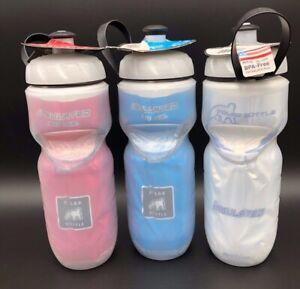Polar Bottles Sport Fade Insulated Water Bottle White//Silver 24oz