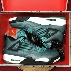 Nike-Air-Jordan-Retro-IV-Teal-Tropical-Green-Glow-30th-Size-11-5-705331-330-Bred