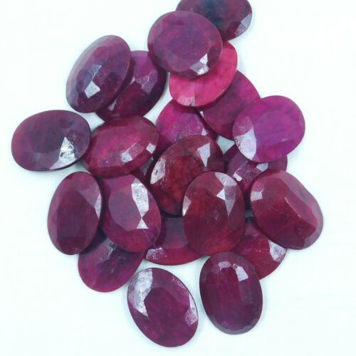 Details about  /Natural Big Oval Faceted Cut Oval Ruby Corundum Loose Gemstone For Jewelry 31x22