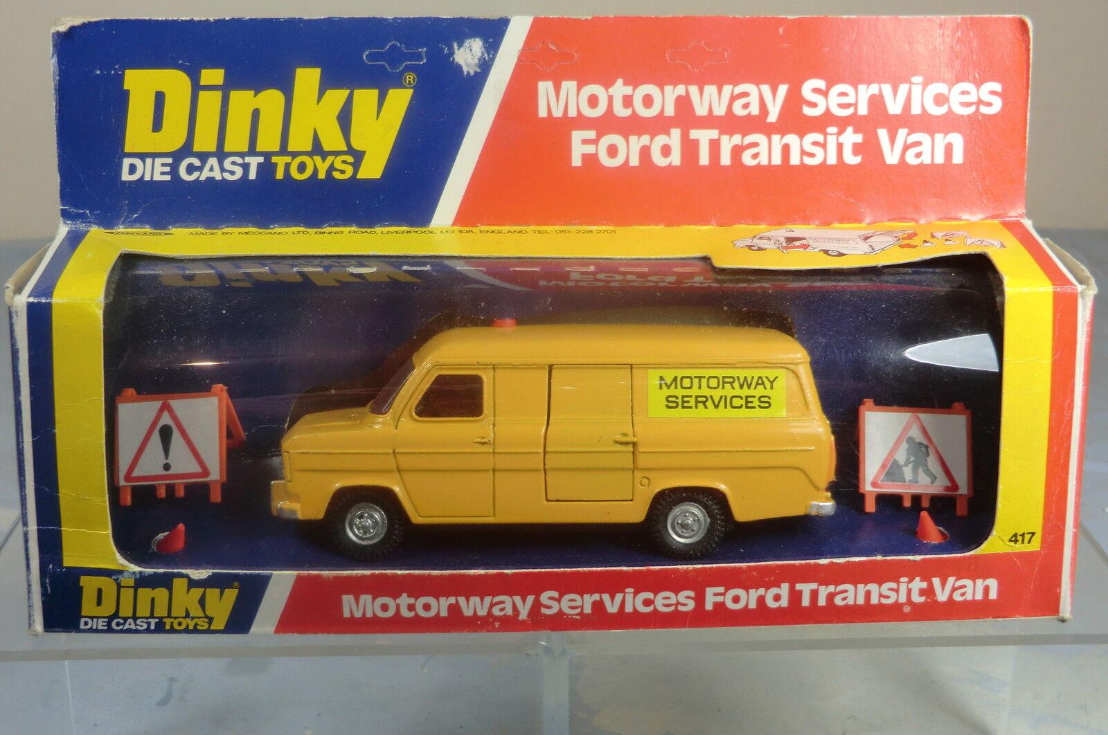 Dinky Toys Modelo No.417 Ford Transit autopista  servicio  van VN MIB