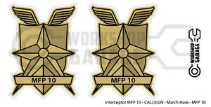 New-Mad-Max-MFP-MAIN-FORCE-DECAL-STICKER-TWIN-SET-MFP-10-Interceptor