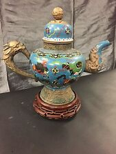 Antique Tibetan Cloisonne Tea Pot