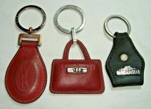 Menge 2 Original Longchamp Leder SCHLUSSELANHANGER Schlüsselanhänger & 1 El Charro