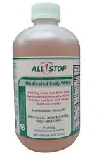 Eczema, Acne, Fungus, Psoriasis Medicated Hand & Body Wash by AllStop-18 oz