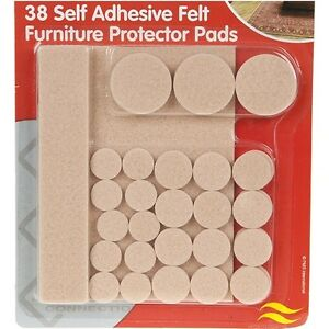 Image Is Loading 38 X Self Adhesive Felt Furniture Protector Pads