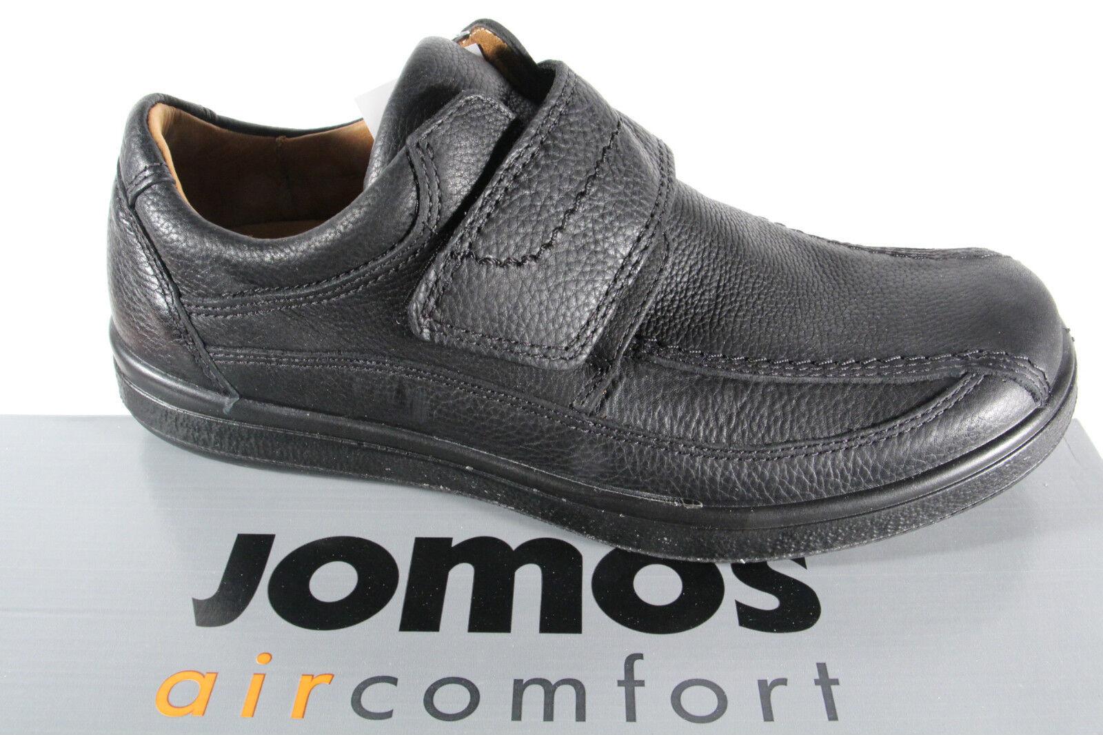 Jomos Herren Slipper Halbschuhe Sneakers Sportschuhe schwarz Leder NEU