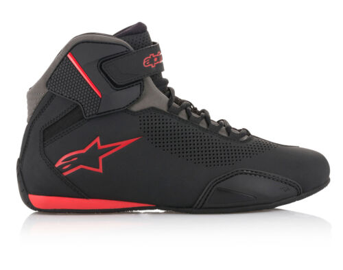 Black//Grey//Red Alpinestars SEKTOR Vented CE Certified Street Riding Shoes