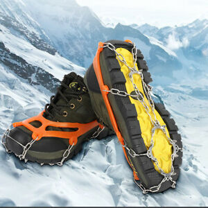 10-Spikes-Crampons-Non-skid-Ice-Cleats-Climbing-Hiking-Snow-Shoes-Grips-Ice-Claw