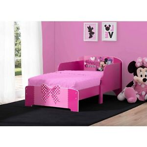 Details about Girls Toddler Bed Frame Wood Disney Modern Kids Teens Bedroom  Furniture New