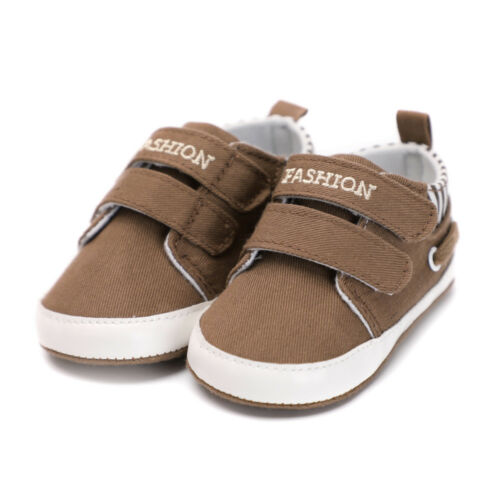 Toddler Baby Kids Boys Soft Sole Canvas Crib Shoes Anti-slip Sneakers Newborn