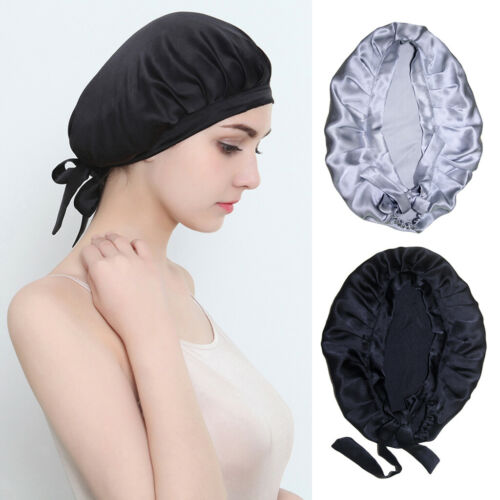 2 Packs Smooth Women Lady 100/% Silk Stretchy Sleeping Hat Night Cap Bonnet