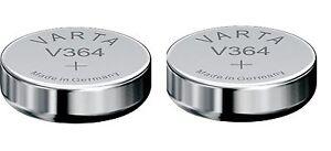 2-PILES-V364-Varta-pile-de-Montre-oxyde-d-039-argent-SR60-364