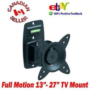 LCD-LED-PLASMA-TV-OR-MONITOR-WALL-MOUNT-13-034-27-034-SWIVEL-amp-TILT-15-17-19-21-22-24-034