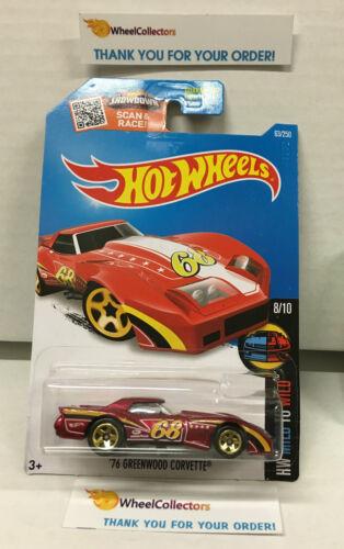 RED* 2016 Hot Wheels H112 /'76 Grenwood Corvette #63
