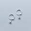 Indexbild 8 - Kleine-Creolen-m-Anhaenger-Kugel-echt-Sterling-Silber-925-Damen-Ohrringe-Kreolen