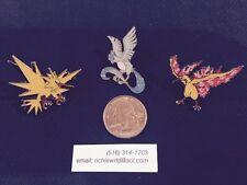 Official Pokemon Legendary Birds-Articuno, Zapdos, & Moltres *3 pin set* IN HAND