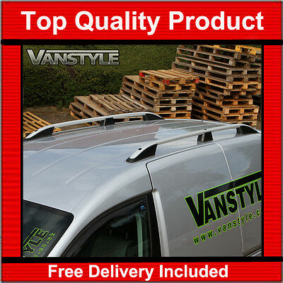 VOLKSWAGEN CADDY MAXI LONG CROSS BARS FOR ROOF RAILS 2010-2019 ANTI-THEFT BLACK