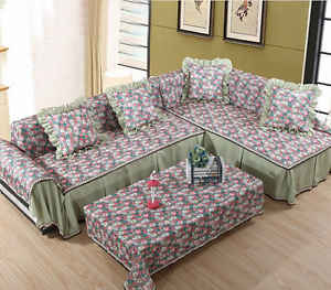 Image Is Loading Acetate Fiber Lace L Shape Sofa Couch Cover