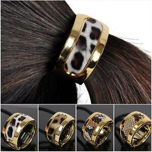 Haargummi-Ring-Zopf-Scrunchy-Pferdeschwanz-Haarring-Hair-Cleopatra-Leopard