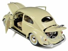 1955 VOLKSWAGEN BEETLE KAFER BEIGE 1/18 DIECAST MODEL CAR BY BBURAGO 12029