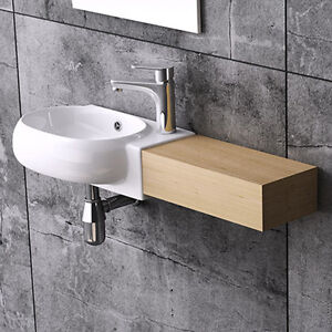 ... -Right-Hand-Small-Oval-Wall-Hung-Cloakroom-Ceramic-Basin-Sink-380mm