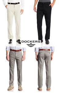 Dockers-Men-039-s-Pants-Slim-Fit-Signature-Khaki-Flat-Front-D1-Casual-Dress-Pant-NEW