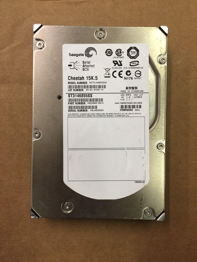 9Z2066-052 1.0 Inch. Seagate Cheetah 146GB 15000 RPM SAS 3Gb//s Hard Drive Low Profile 16MB Buffer 3.5 Inch