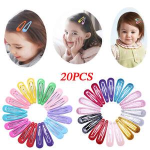 20x-Snap-Hair-Clips-for-Hair-Clip-Pins-BB-Hairpins-Color-Metal-Barrettes-5cm-UK