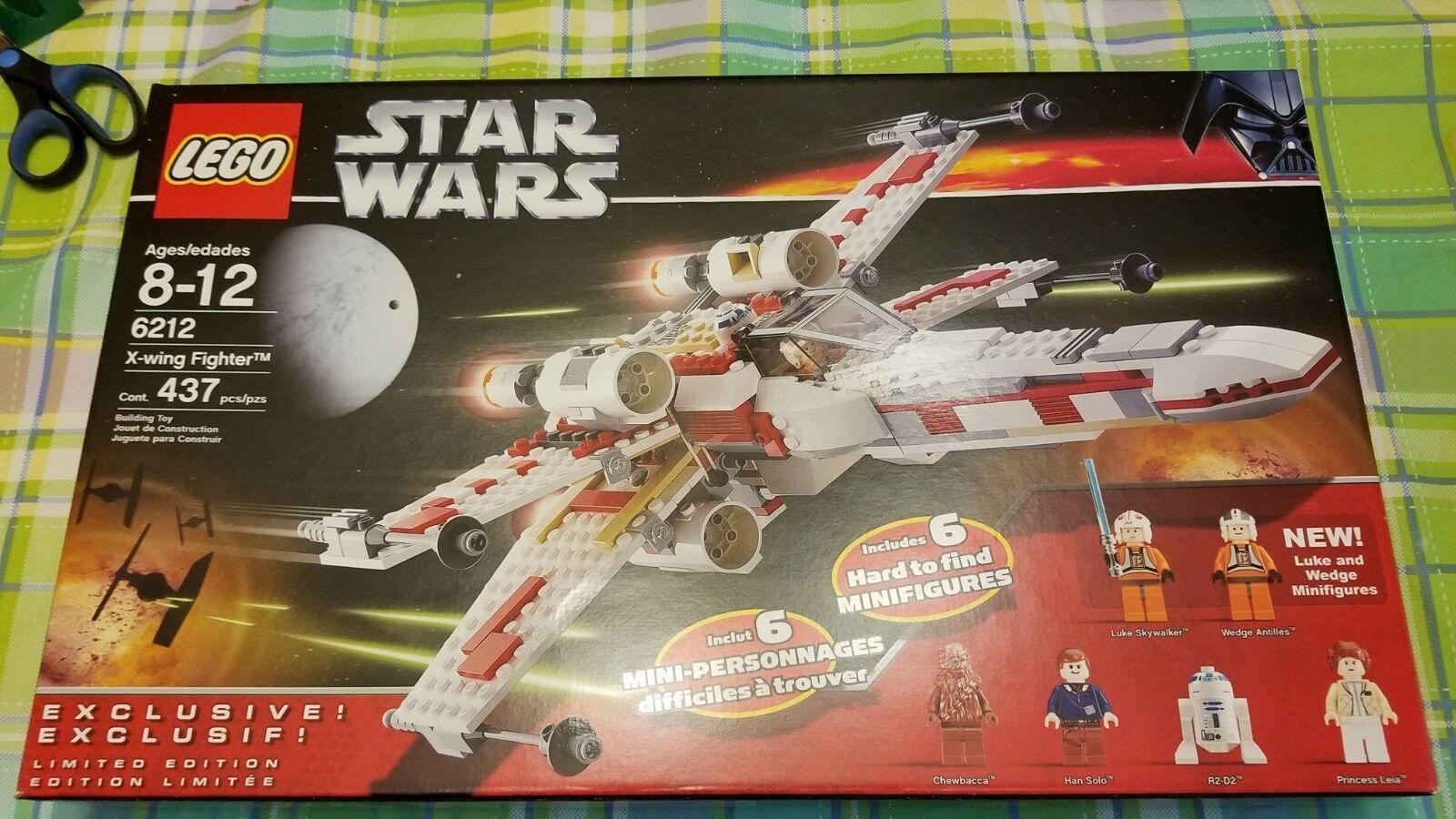 LEGO Star Wars X-Wing Fighter  6212 NIB NR Retirosso