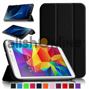 Smart Leather Tablet Folding Stand Case Cover For Samsung ...