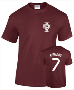 Shirt T Cristiano 7 Mens Printed No Football Ronaldo Cotton Portugal CoBWerdx